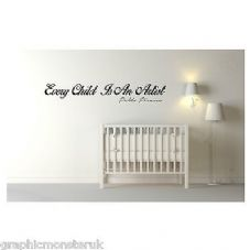 Every Child Is An Artist Vinyl Wall Decal Nursery Child Baby